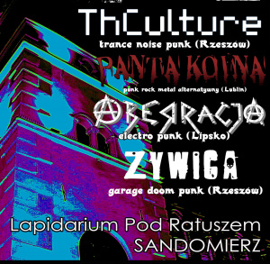 Koncert zespołów Thculture, Aberracja, Panta Koina, Żywica