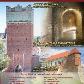 """Bilet promocyjny """"3w1"""" do miejskich atrakcji turystycznych w Sandomierzu"""