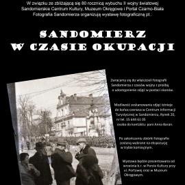 Informacja dotycząca planowanej wystawy pt.: SANDOMIERZ W CZASIE OKUPACJI