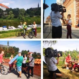 """Sandomierz i szlak Green Velo w programie """"Pytanie na śniadanie"""" w TVP !"""