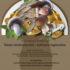 """XVII Edycja Konkursu p.t. """"Nasze sandomierskie – kulinaria regionalne"""""""