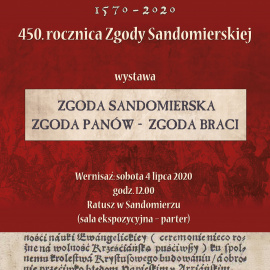 """Wernisaż wystawy pt. """"Zgoda Sandomierska. Zgoda Panów - Zgoda Braci"""""""