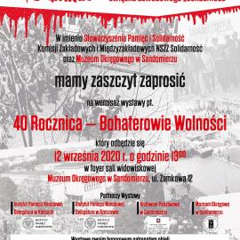 Bohaterowie Wolności. Zaproszenie na wernisaż wystawy w Muzuem Okręgowym w Sandomierzu
