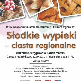 """XVIII Edycja Konkursu pt. """"Nasze sandomierskie – kulinaria regionalne"""""""