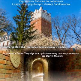 Podziemna Trasa Turystyczna i Brama Opatowska będą otwarte od 4 maja