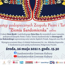 """Występ podopiecznych Zespołu Pieśni i Tańca """"Ziemia Sandomierska"""" online"""