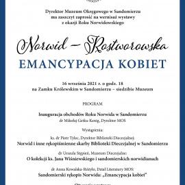 """Zapraszamy na otwarcie wystawy """"Norwid-Rostworowska. Emancypacja kobiet"""""""