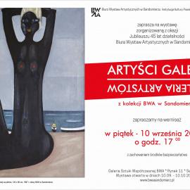 """Wernisaż wystawy """"ARTYŚCI GALERII - GALERIA ARTYSTÓW - suplement"""""""
